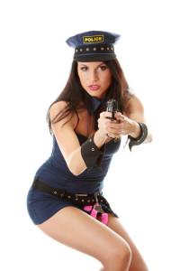 Polizei Kostüm für Stripperinnen