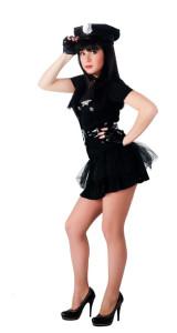 Police Outfit für Stripperinnen